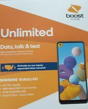 Samsung Galaxy A21 SM-A215U - 32GB - Black (Boost Mobile) Brand New