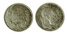 pcc1840_88) Hungary Franz Joseph I 1 Korona 1893 AG Toned