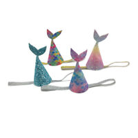 Lovely Glitters Mermaid Tail Party Hat Girlfriends First Birthday Party Hat KI