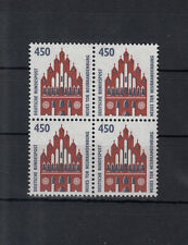 5962 ) Germany 1992 - Tourist Attractions - New Gate as block of four stamps MNH