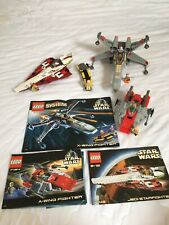 Lego Star Wars (7134 A-Wing, 7140 X-Wing, 7143 Jedi Starfighter) Inkl. BA