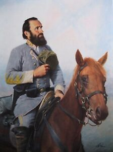 Civil War Print Tribute To The Cause General Stonewall Jackson
