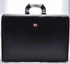 Executive Business Brown Laptop Travel Work Flight Pilot Bag Case Briefcase 6925