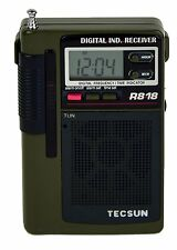 Tecsun R818 Portable 8-Band AM/FM Shortwave Pocket Radio with Digital Clock