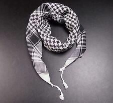 Palituch Palästinenser Tuch wei�Ÿ schwarz PLO 100%25 Baumwolle Rocker PUNK Halstuch