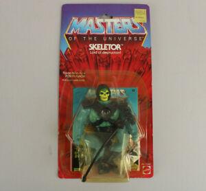 Vintage 1982 1983 Masters of Universe MotU Skeletor Figure Sealed 12 Back Card!