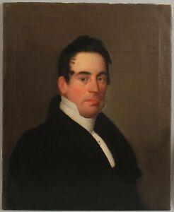 c1810 Antique 19thC American Federal-Period Gentleman Portrait Oil Painting NR