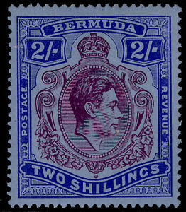 BERMUDA GVI SG116a, 2s dp reddish purple & ultram/grey-blue, VLH MINT. Cat £350.