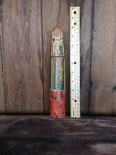 Antique Wood Pencil Holder/ Case , Decorative Child Design School