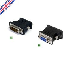 DVI to VGA Cable Adapter Converter 15pin Connector Dual Link Analog for TV PC UK