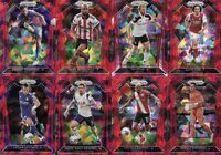 2020-21 Panini Prizm English Premier League Red Cracked Ice Refractor Lot of 20