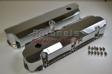 SBF Ford Chrome Fabricated Aluminum Valve Cover 289-302-351W 5L Mustang Falcon