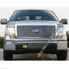 For 09 10 11 12 13 14 Ford F150 F-150 Polished Billet Grille Bumper Replacement