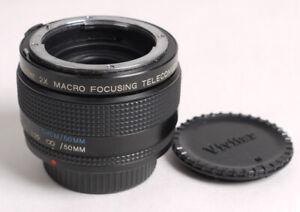 Vivitar (1:1) Macro Focusing 2X Teleconverter for Nikon AI - Minty