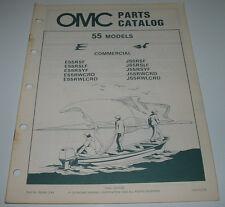 Ersatzteilkatalog Parts Catalog OMC 55 Models Boot Engine Bootsmotor März 1984!