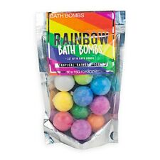 Rainbow Bath Bombs Set of 10 Tropical Scented