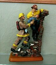 "2000 Vanmark Red Hats Of Courage DOUBLE TEAM Fireman Figurine  10"" tall"
