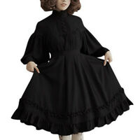 Lace Gothic Ruffles Dress Women Vintage Lolita Dress Japanese Kawaii Cute Dress