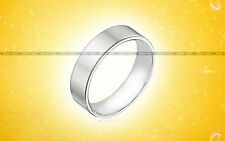 Astrology 925 Sterling Silver Broad Ring Plain Handmade Band Aus Size L 1/2