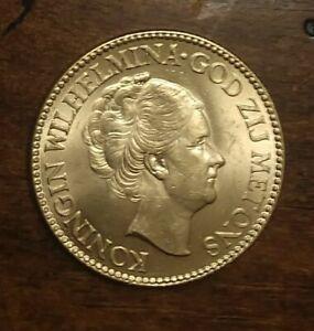 1927 Netherlands 10G Gulden Gold Coin