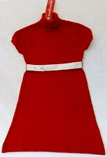 Short Sleeve Dress Knee-Length American Girl Ruby & Ribbon sz 8 Red Knit Cotton
