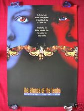 The Silence Of The Lambs * 1991 Original Movie Poster Two Face Advance Halloween