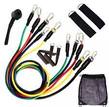 Resistance Home Workout Bands (11 piece set) Adjustable Weights 4.5-14kg.