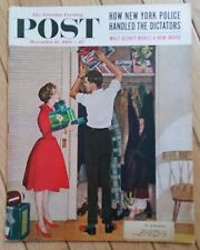 THE SATURDAY EVENING POST DECEMBER 10 1960 NYC POLICE DISNEY MAKES NEW MOVIE