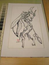 Ben Rodriguez original art of insect alien