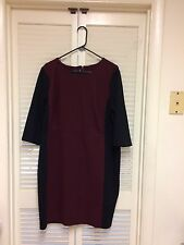 Talbots Womens Pus Color Block Sheath Dress Women's Size 16W