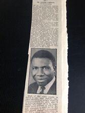 F9-1 Ephemera 1965 Article Joseph Norman Sierra Leone Camborne Mines