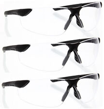 3 Pairs lot BLACK CLEAR SAFETY GLASSES FLEXIBLE Z87+sghega protective wholesale