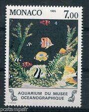 MONACO 1985, timbre 1487, POISSONS, AQUARIUIM, neuf**