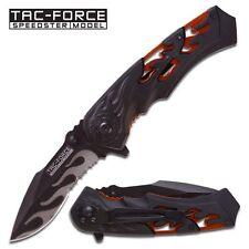 "Tac Force ""Flash Point"" Assisted Opening Folder- Black & Burnt Orange. tf691bor"