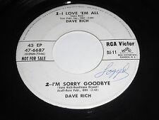Dave Rich & Carol Johnson 45 RPM EP - RCA 47-6688