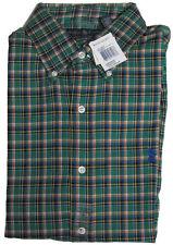 Polo Ralph Lauren Mens Pony Logo Custom Fit Slim Button Down Sport Dress Shirt