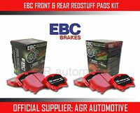 EBC REDSTUFF FRONT + REAR PADS KIT FOR VOLKSWAGEN BEETLE 2.0 TURBO 2011-