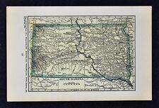 1927 Hammond Map -  - South Dakota Pierre Black Hills Rapid City Sioux Falls SD
