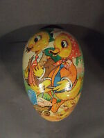 "VINTAGE ""SLEEPY BABY DOLL"" PAPER MACHE DUCK EASTER EGG BOX GERMANY (NO DOLL)"