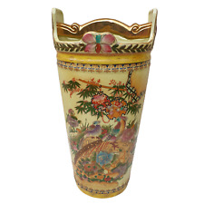 More details for antique umbrella stand / stick holder - chinese ceramic - chinese birds - 46cm