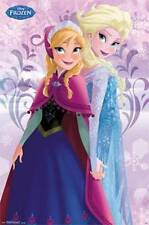 FROZEN SISTERS MOVIE POSTER 22x34 DISNEY NEW ANIMATED OLAF SVEN ANNA ELSA 13574