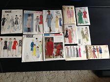 Lot of 12 Vintage VOGUE Dress,Coat,Jacket Patterns