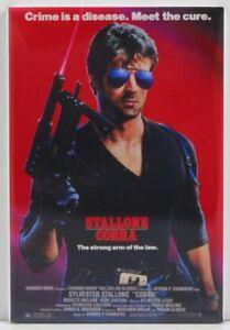 """Cobra Movie Poster 2"""" X 3"""" Fridge / Locker Magnet. Stallone"""