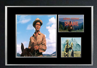 SHANE MOVIE AUTOGRAPHED MOUNTED PRINT