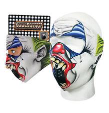 Creepy Evil Joker Clown Neoprene Full Face Mask Capsmith  Free Shipping Black