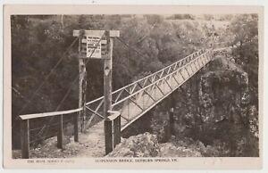 VICTORIA - Suspension Bridge Hepburn Springs real-photo postcard, dated 1943.