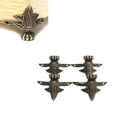 4pcs Antique Brass Jewelry Box Wood Case Decorative Feet Leg Corner Protector