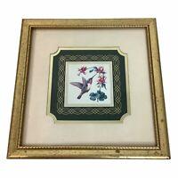 "Allen Hummingbird Kathy Seek Art Print Framed Heartfelt Collection 9"" Square"