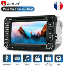 "7"" 2 Din Autoradio GPS Navi DVD CD BT Para VW Golf 5 Plus Passat Polo EOS"
