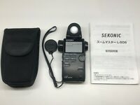 【NEAR MINT】 Sekonic L-508 Zoom Master Light Meter w/ Soft Case From JAPAN #480